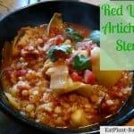 Vegan Lentil Stew with Artichokes