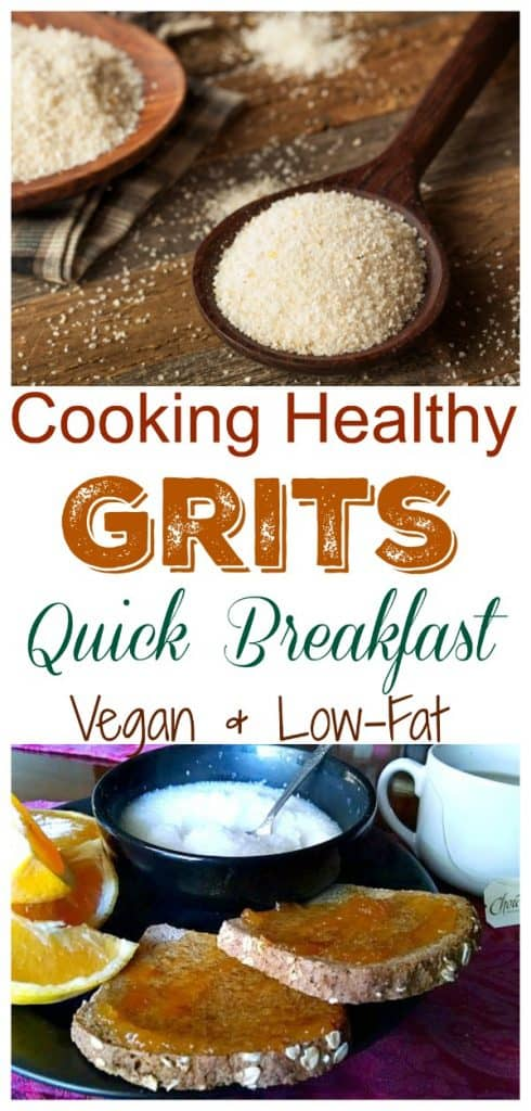 cooking healthy grits