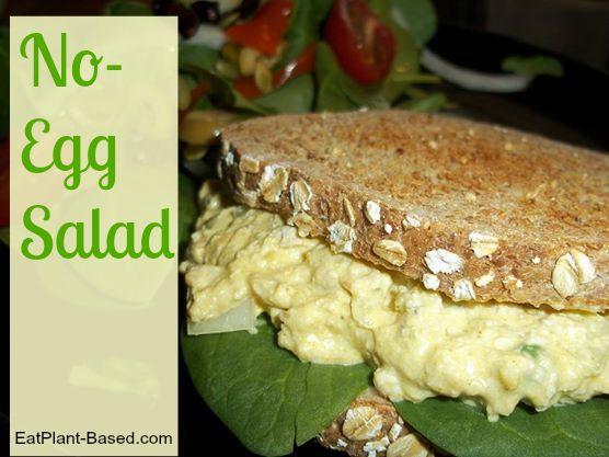 vegan egg salad on sandwich