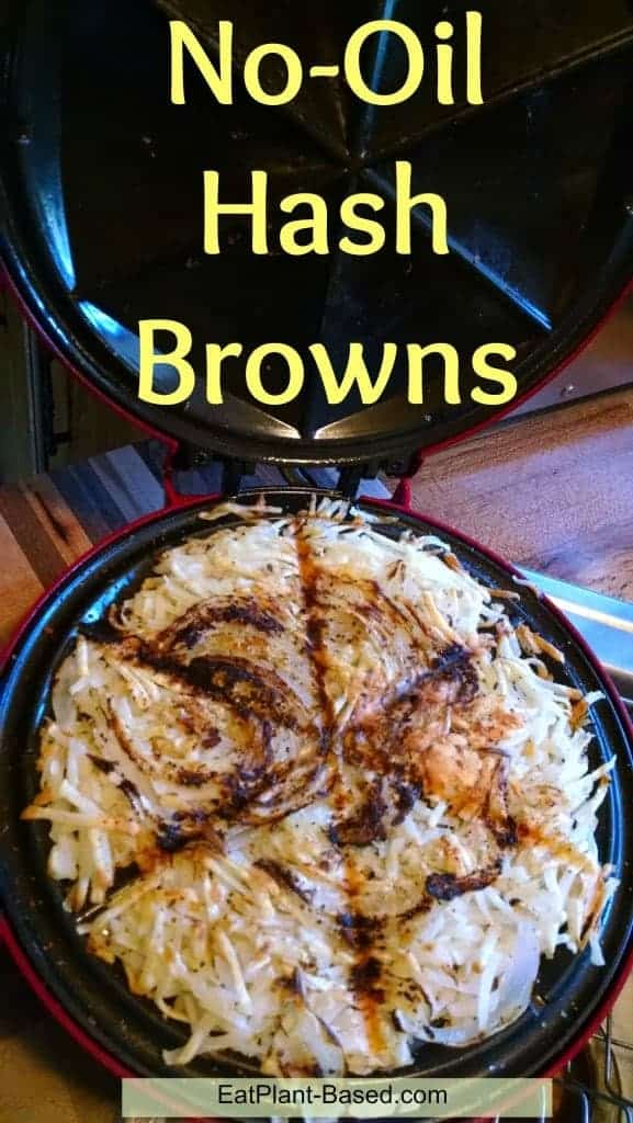 waffle iron hashbrowns no oil