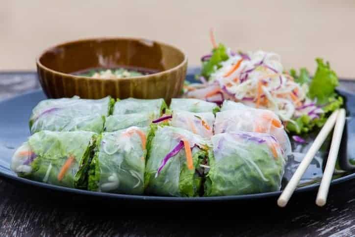 Thai spring garden rolls.