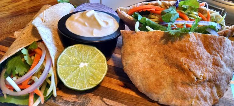 vegan sandwich recipes. pita pockets