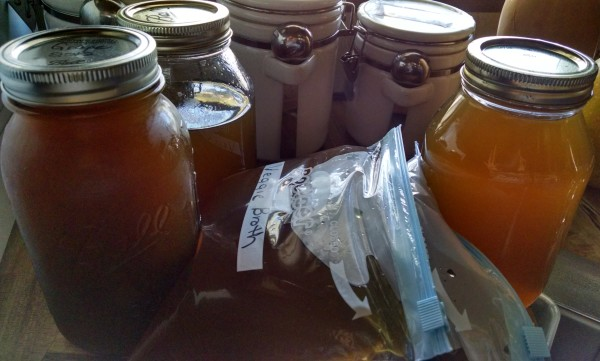 Vegetable Stock from Scraps. storage