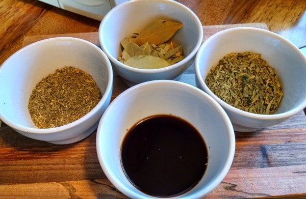 Vegetable Stock from Scraps. spices