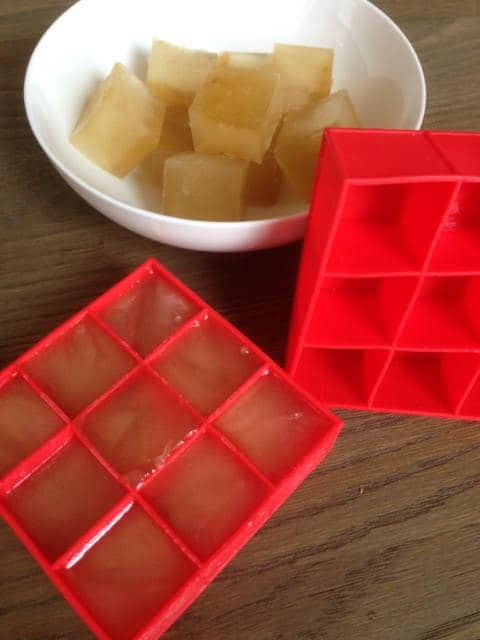 Vegetable Stock from Scraps. freeze in ice cube trays