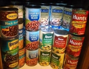 plant based diet grocery list canned foods