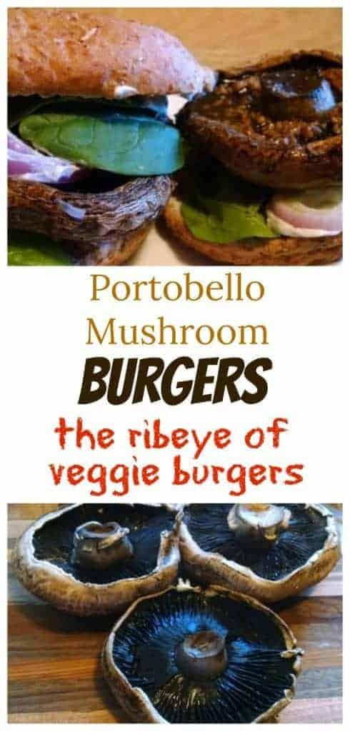 Portobello Mushroom Burgers collage