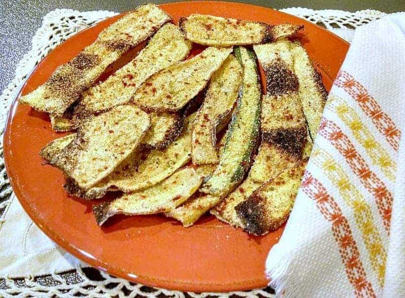 oven fried zucchini and squash