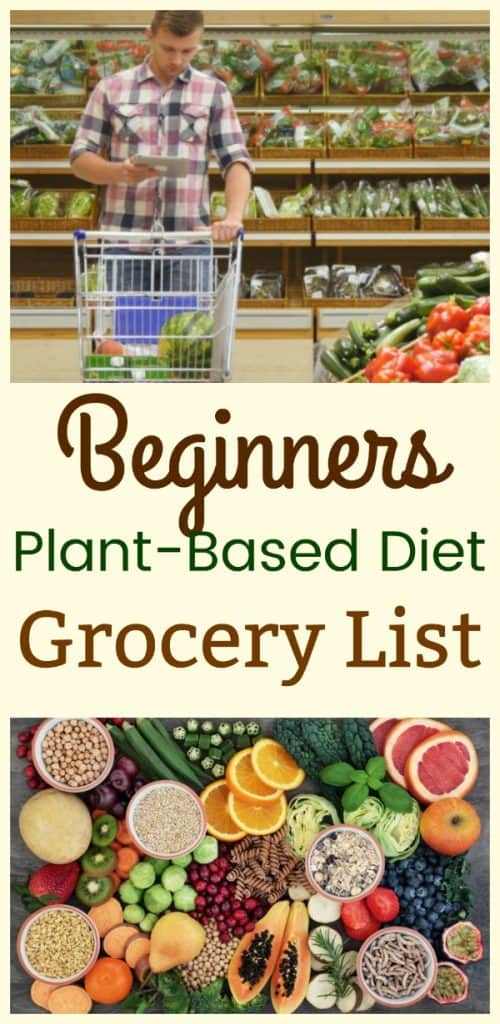 Beginners Plant-Based Diet Grocery List collage.