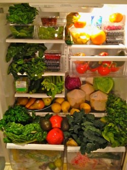 plant based diet grocery list refrigerator foods