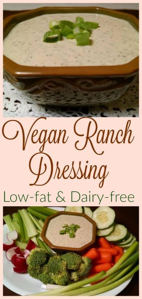 vegan ranch dip collage