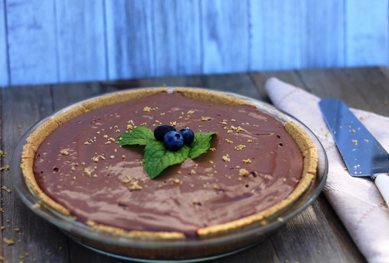 Vegan Chocolate No-Bake Pie