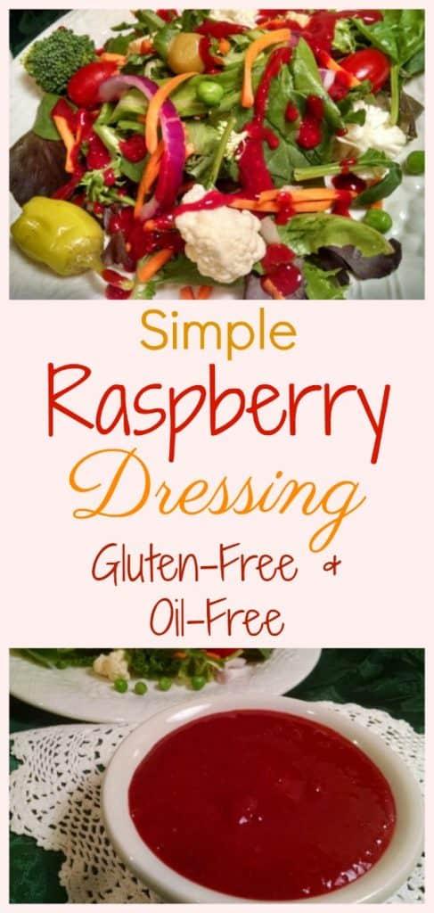 Gluten-free raspberry dressing