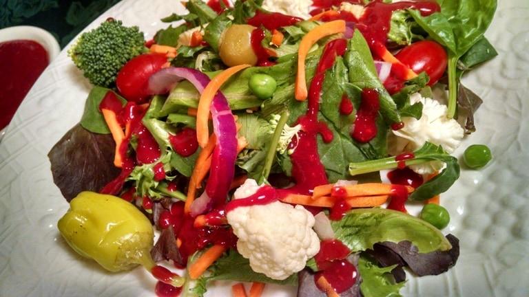 Raspberry salad dressing oil free