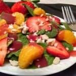 Vegan Spinach Salad: Mandarin Orange