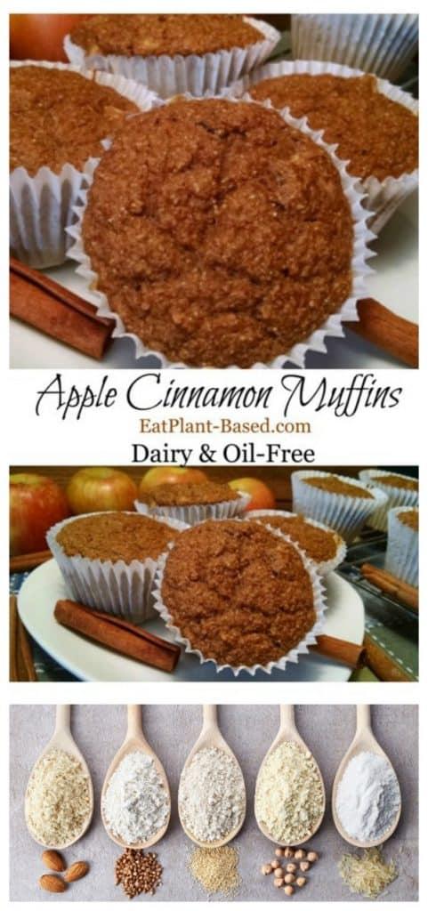 Apple Cinnamon Vegan Muffins collage.