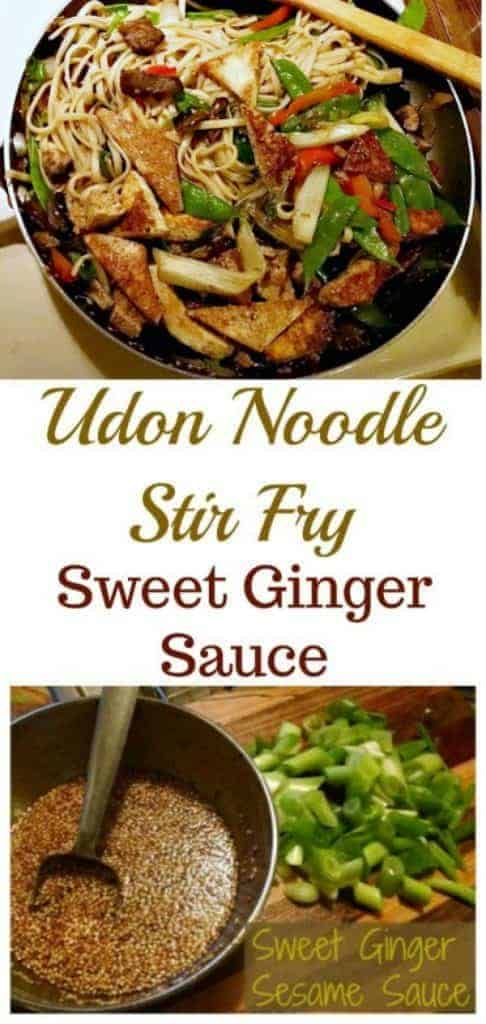 Udon Noodle Stir Fry with Sweet Ginger Sauce