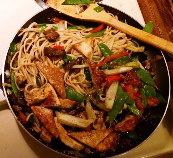 Udon Noodle Stir Fry   Sweet Ginger Sesame