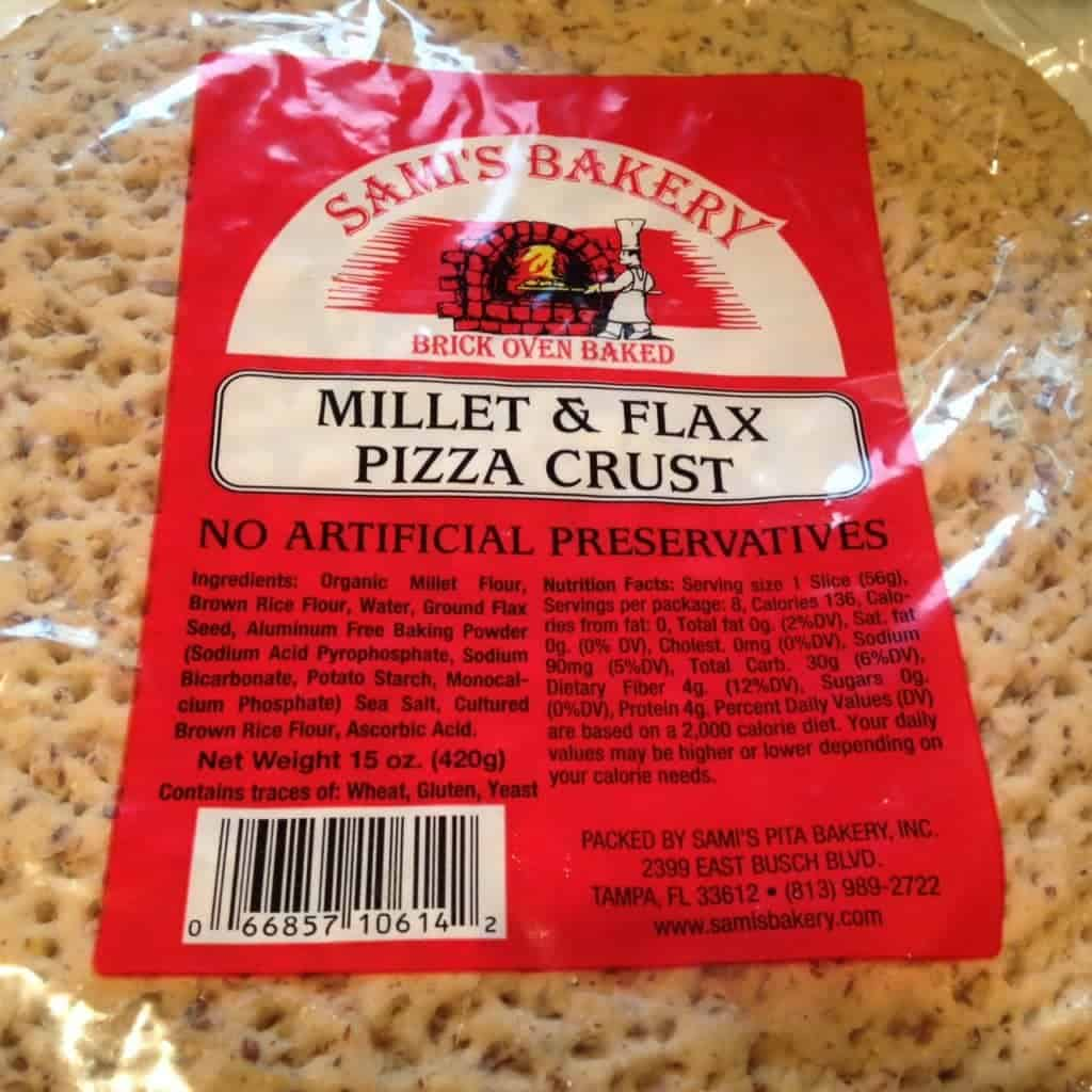 Sami's Bakery millet and flax pizza crusts