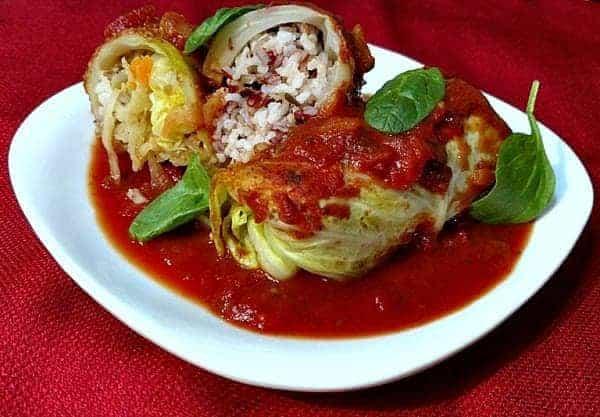 Stuffed Cabbage Rolls Vegetarian