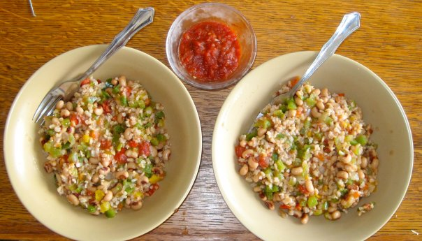 simple plant-based diet recipes. hoppin john