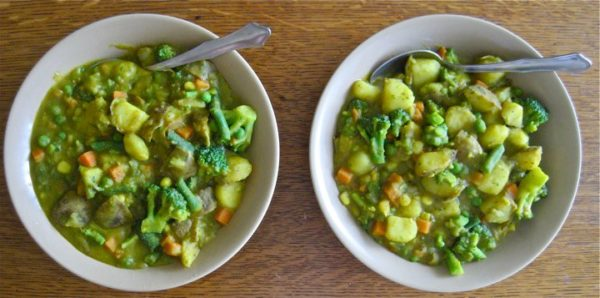 simple plant-based diet recipes. curried split pea