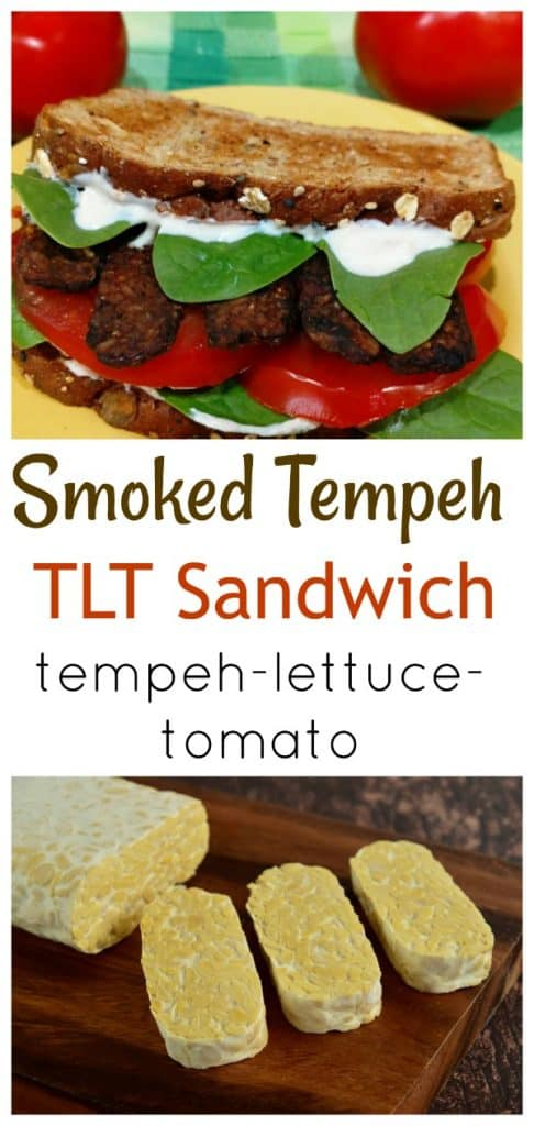 Smoked Tempeh TLT Sandwich collage