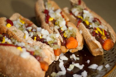 Chili Vegan Recipe. Carrot Dogs from Kim Campbell