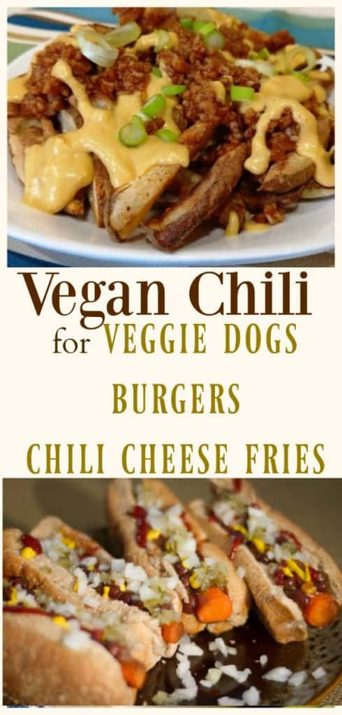 Vegan Chili for veggie dogs and burgers