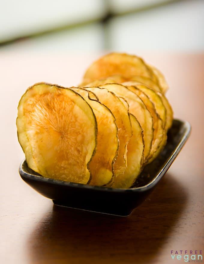 vegan party snacks oil free potato chips