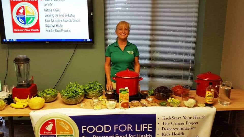 Food for Life classes. Terri Edwards
