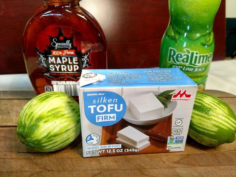 glazed vegan key lime cake recipe ingredients