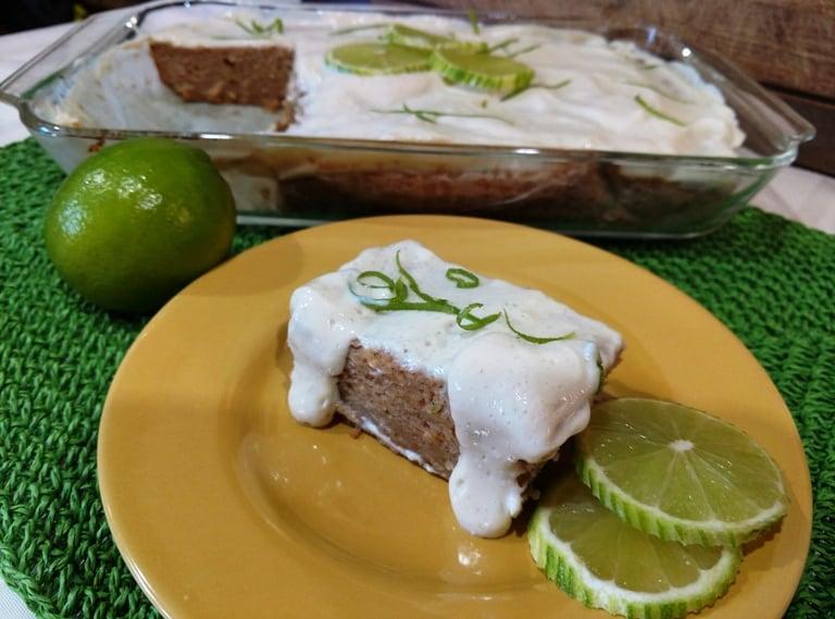 glazed vegan key lime cake recipe