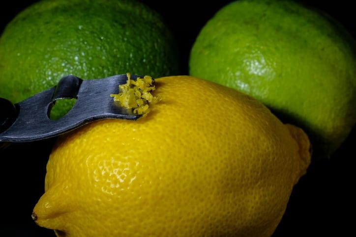 citrus peeler. glazed vegan key lime cake recipe