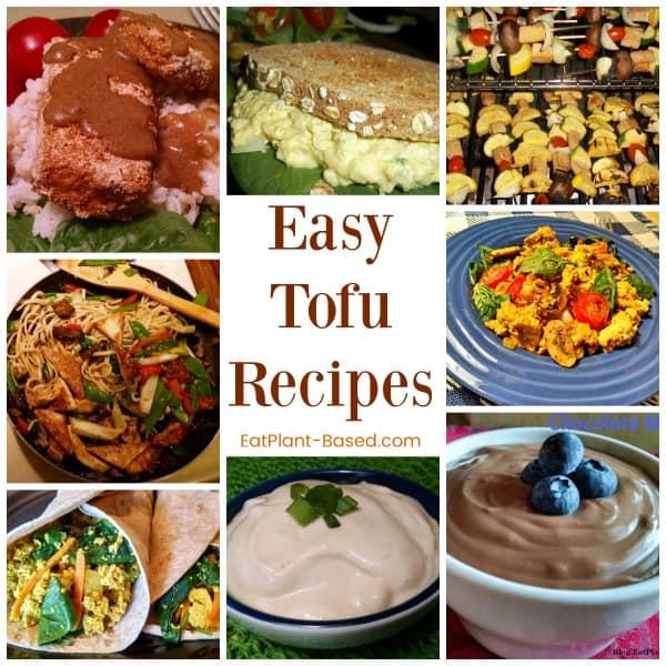 easy tofu recipes collage