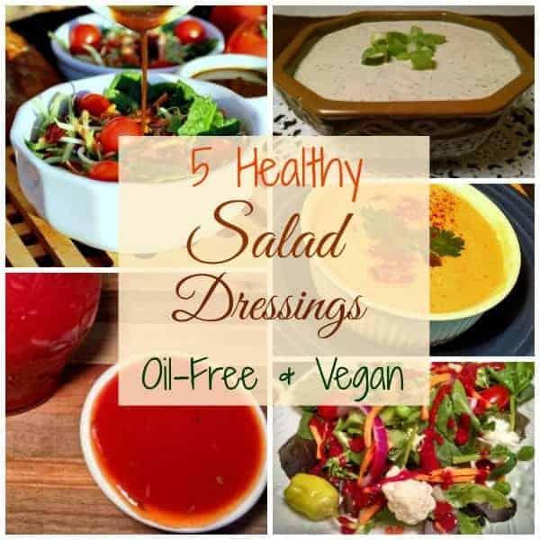 Healthy oil-free salad dressings