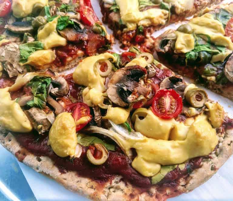 vegan pizza recipe. Cashew Vegan Cheese Mozzarella