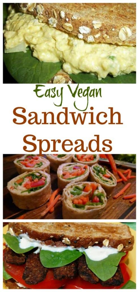 Easy Vegan Sandwich Spreads collage