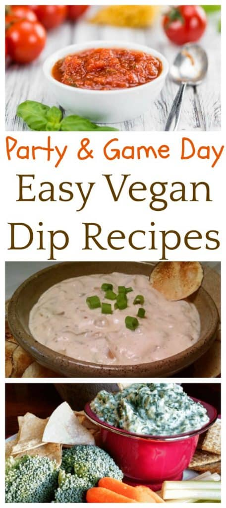 Party and game day vegan dips