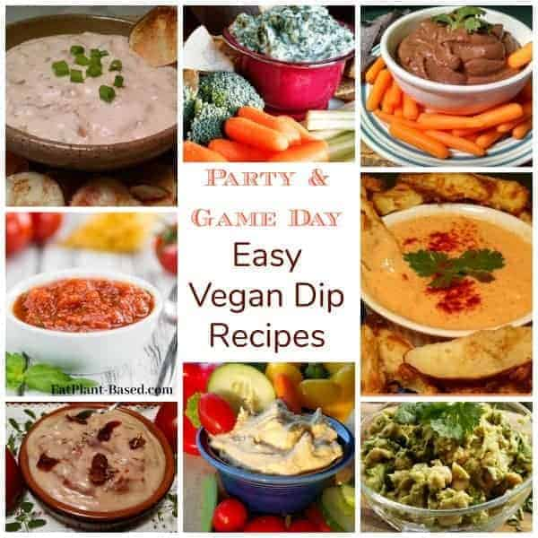vegan dip collage. party dips