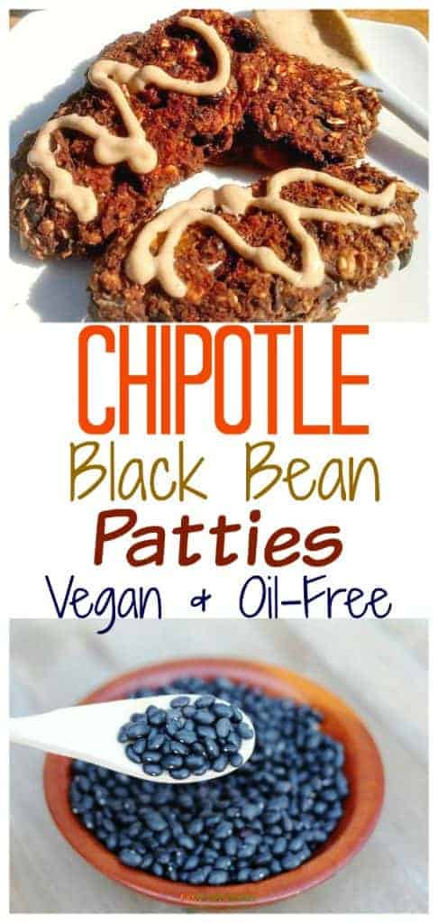 Vegan Black Bean Patties with Chipotle
