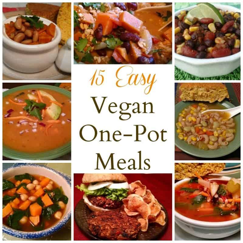 vegan one pot meals collage