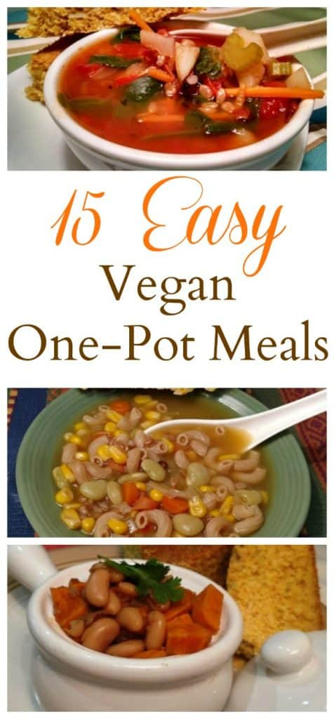 15 Easy Vegan One Pot Meals collage