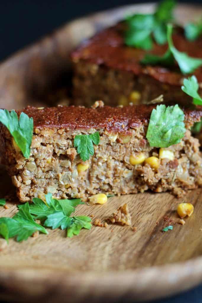 Barbecue Lentil Loaf