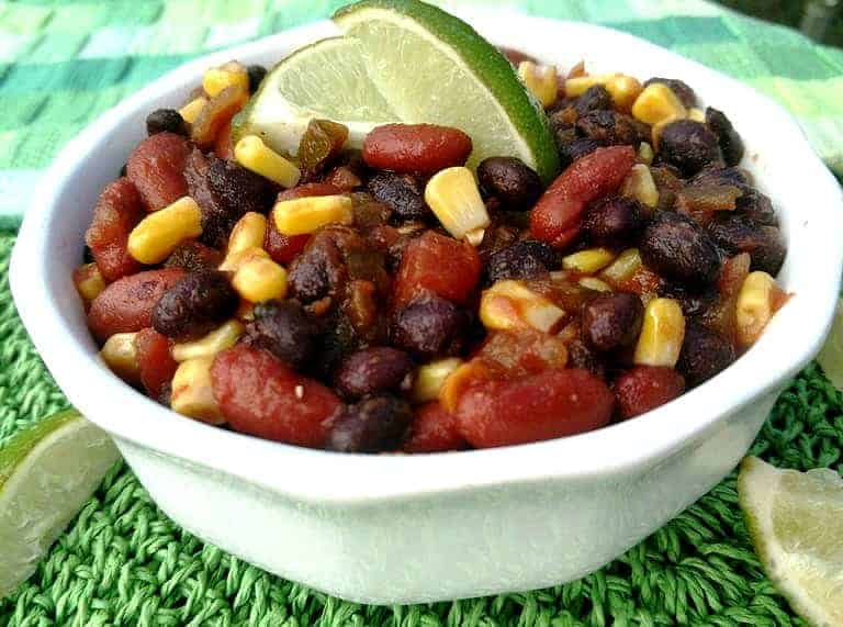 Yes-You-Can Black Bean Chili in white bowl