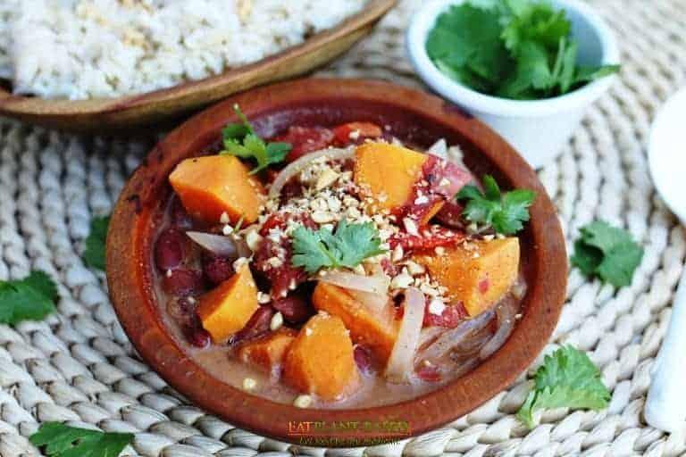African Sweet Potato Peanut Stew.