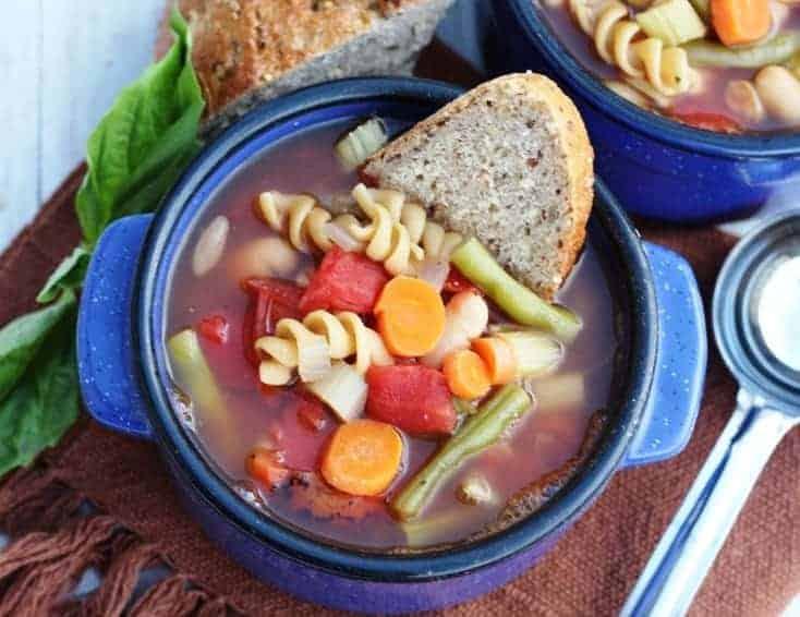 One-Pot Vegan Minestrone Soup