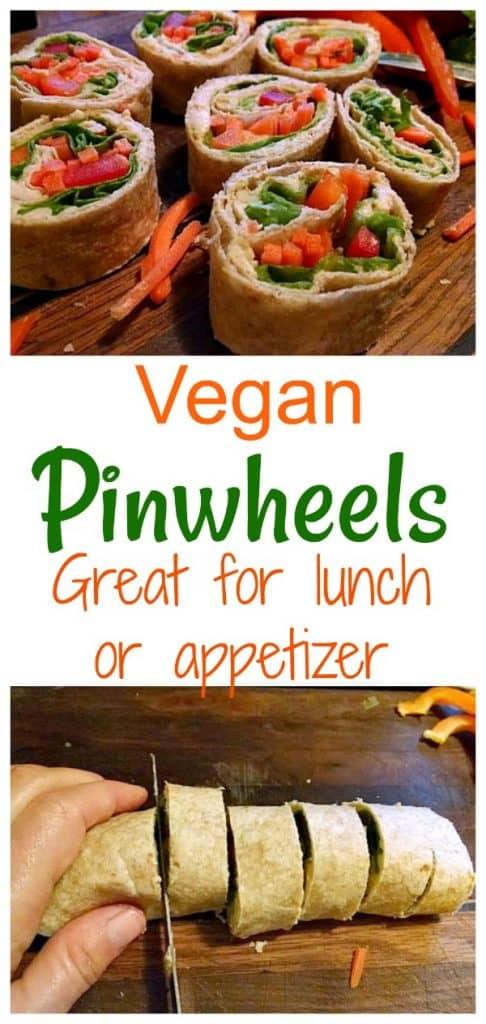 vegan pinwheels